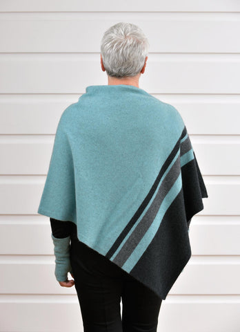 Image of Native World Topaz Aqua Women's 3 Tone Wrap Possum Merino - NE732