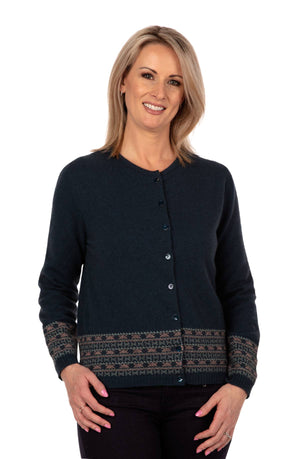 Native World Ocean Women's Merino Fairisle Cardigan - NB749