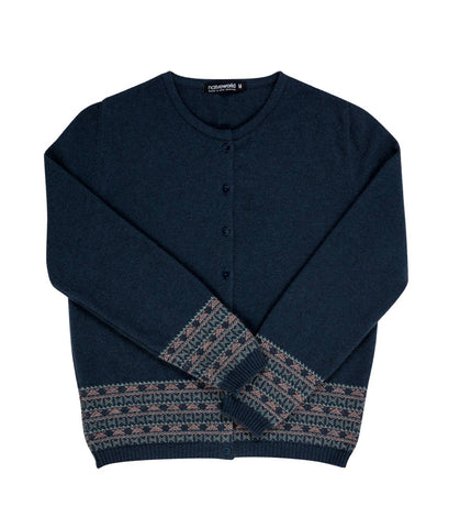 Image of Ocean Women's Merino Fairisle Cardigan - NB749