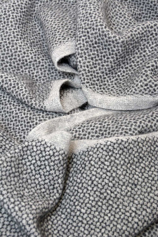 Silver Women's Pebble Wrap Scarf in Possum Merino - NE802