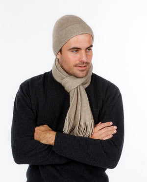 Native World Flax Plain Possum Merino Wool Scarf - NX102