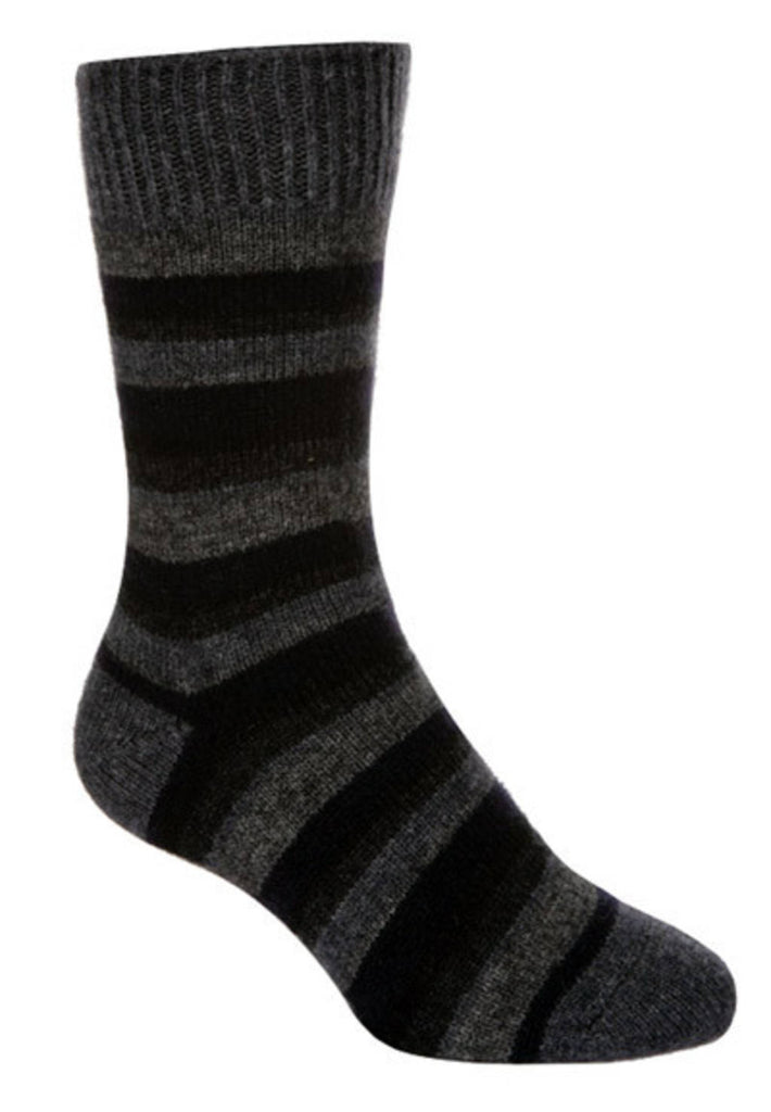 Native World Graphite Blue Grey Striped Socks - NX206