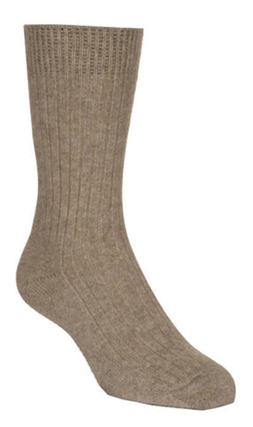 Flax Unisex Plain Ribbed Socks - NX218