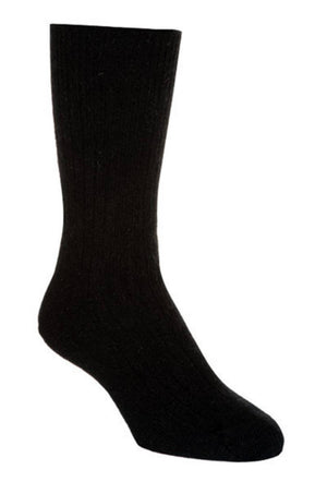 Native World Black Unisex Plain Ribbed Socks - NX218