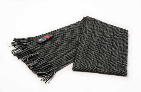 Image of Herringbone possum merino wool scarf by Native World