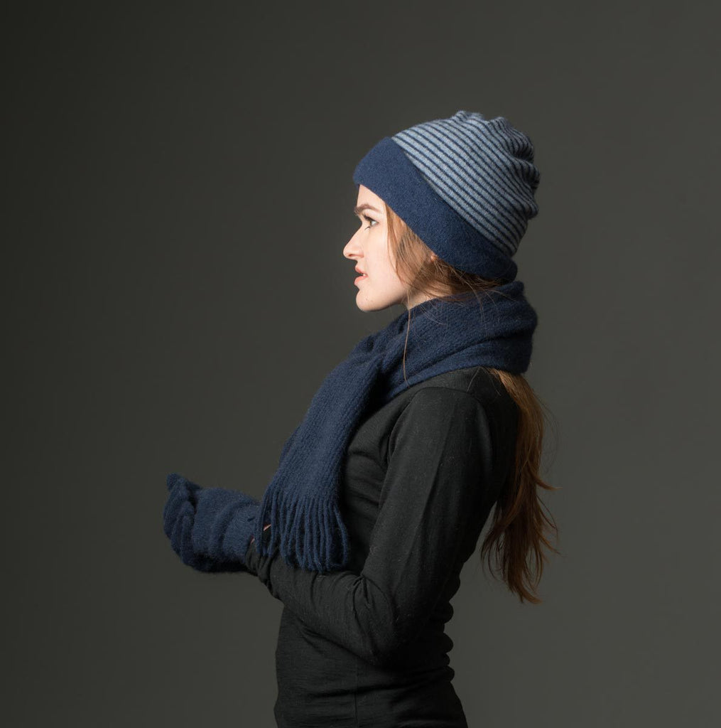 Twilight Double Layer Reversible Beanie Hat Unisex - NX397