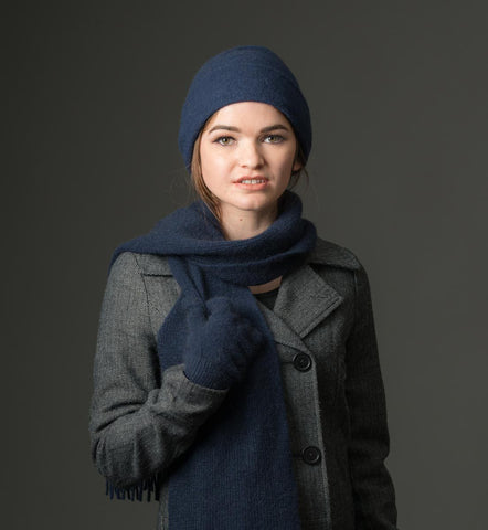 Image of Twilight Double Layer Reversible Beanie Hat Unisex - NX397