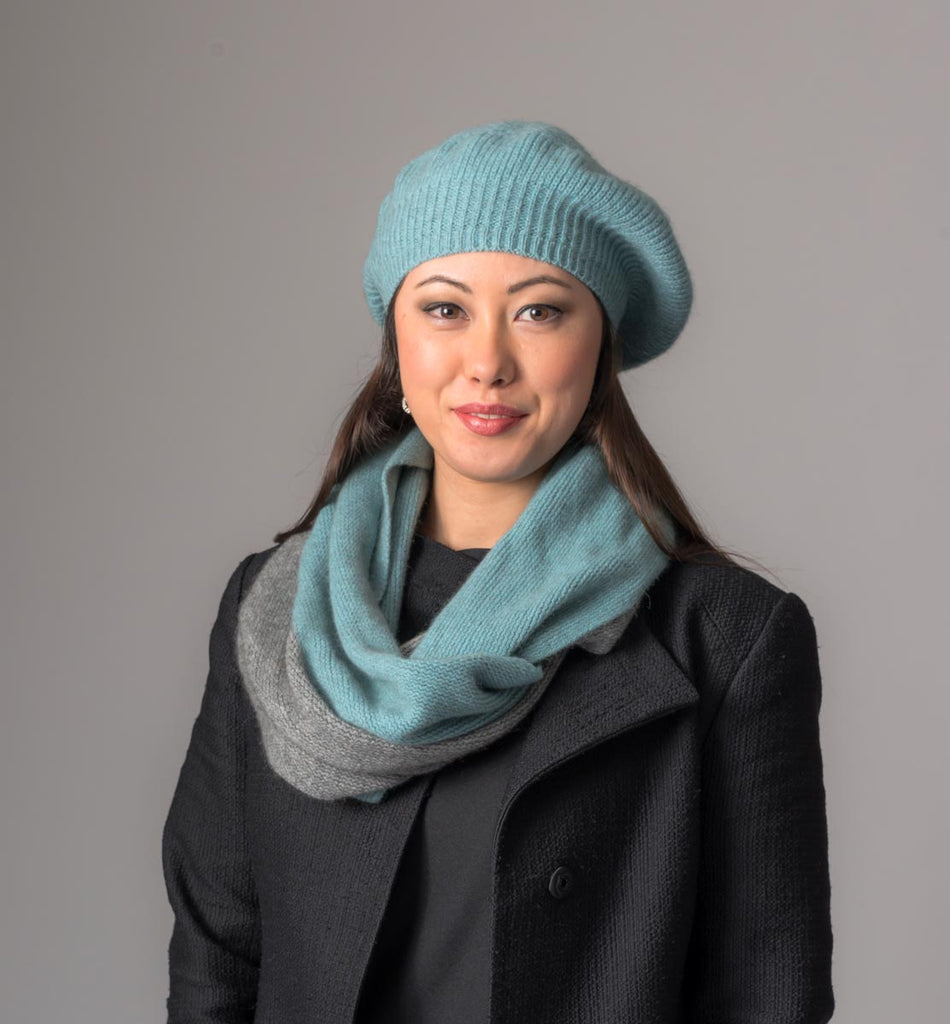 Topaz Loop Scarf 2-Tone Block Colour - NX705