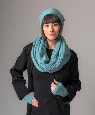 Image of Topaz Slouch Beanie Hat in Possum Merino Wool Unisex - NX677