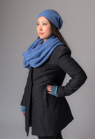 Image of Bluebell Slouch Beanie Hat in Possum Merino Wool Unisex - NX677
