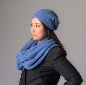 Bluebell Slouch Beanie Hat in Possum Merino Wool Unisex - NX677