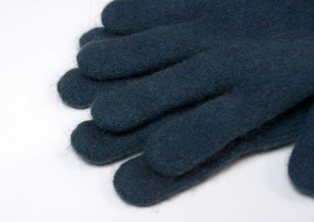 Native World Ocean Women's Two Tone Gloves Possum Merino Wool - NX688