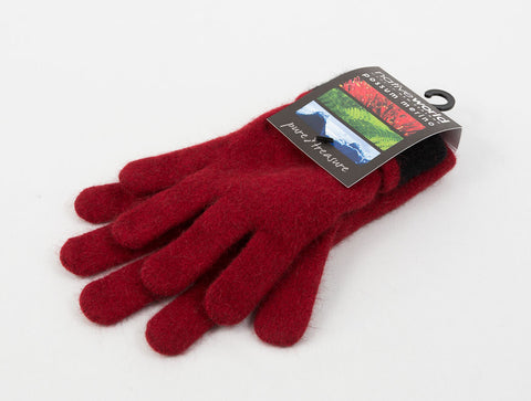 Image of Native World Berry Women's Two Tone Gloves Possum Merino Wool - NX688