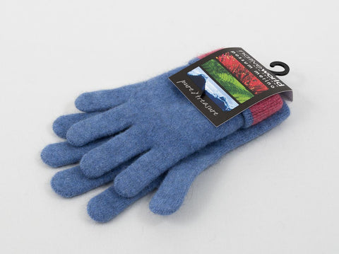 Native World Bluebell Women's Two Tone Gloves Possum Merino Wool - NX688