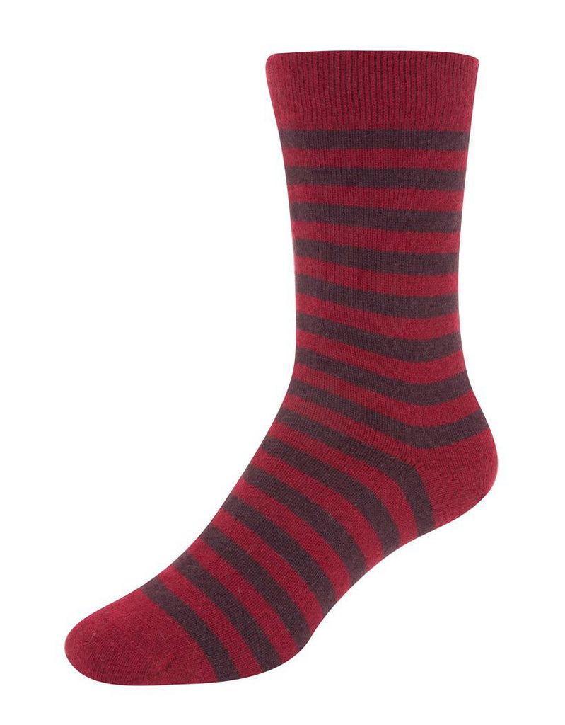 Native World Berry Women's Striped Socks - NX691