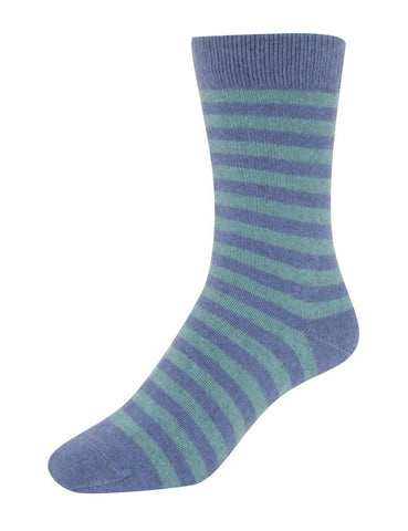 Image of Native World Bluebell (Blue-Topaz) Women's Striped Socks - NX691