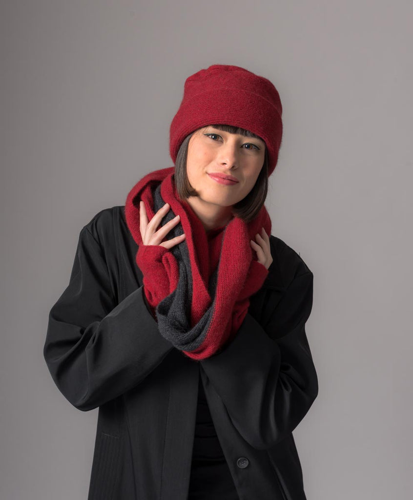 Native World Berry Loop Scarf 2-Tone Block Colour - NX705
