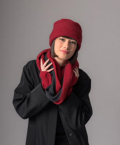 Bery Loop Scarf 2-Tone Block Colour - NX705