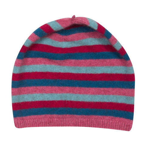 Image of Possum & Merino Wool Raspberry Pink Kids Beanie Hat - NX707