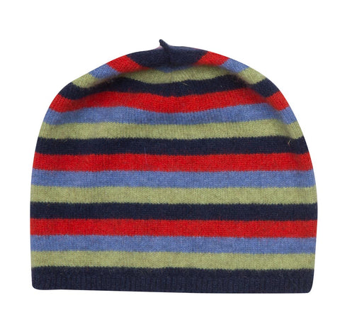Possum & Merino Wool Twilight Blue Kids Beanie Hat - NX707