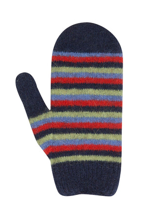 Possum & Merino Wool Twilight Blue Kids Mittens - NX708