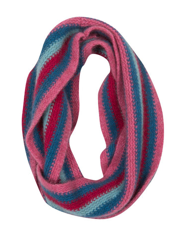 Possum & Merino Wool Raspberry Pink Kids Loop Scarf - NX709
