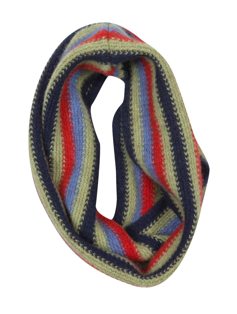Possum & Merino Wool Twilight Blue Kids Loop Scarf - NX709