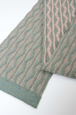 Native World Possum Merino Wool Seafoam Dune Scarf - NX806
