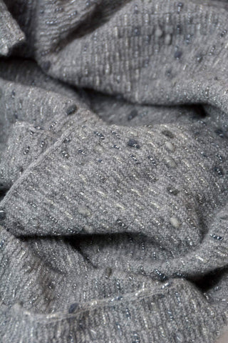 Possum Merino Silver Grey Endless Loop Dot Scarf - NX807