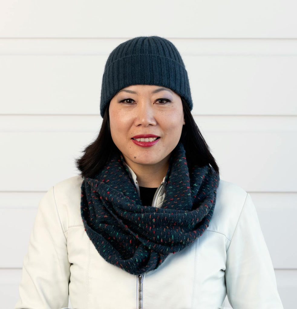 Ocean Endless Loop Dot Scarf - NX808