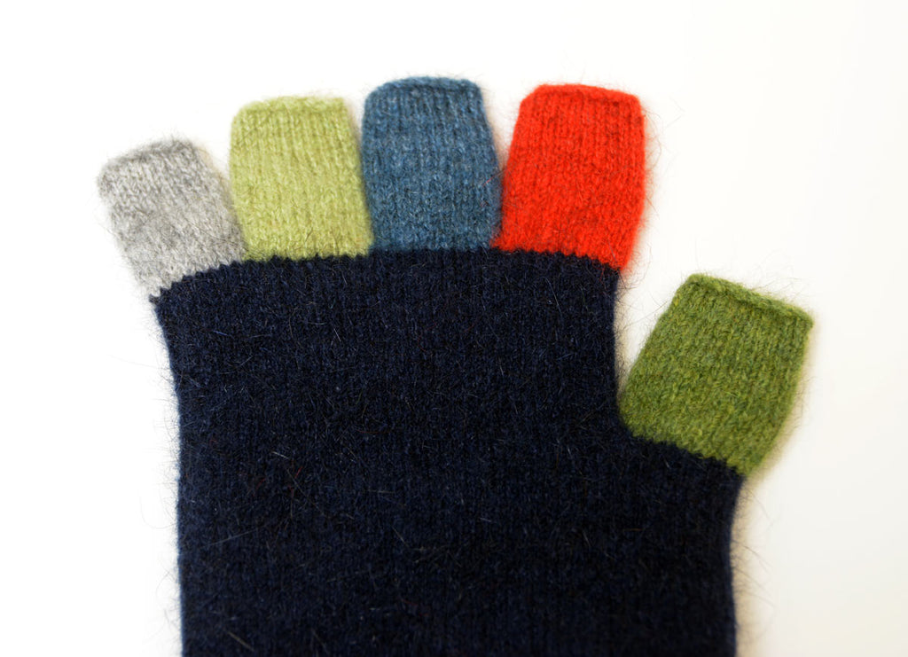 Native World Twilight Blue Crazy Kids Fingerless Gloves - NX811