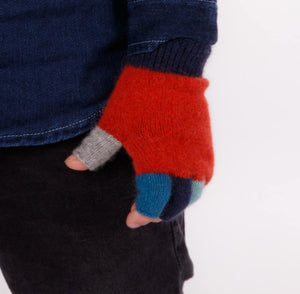 Ruby Red Crazy Kids Fingerless Gloves - NX811