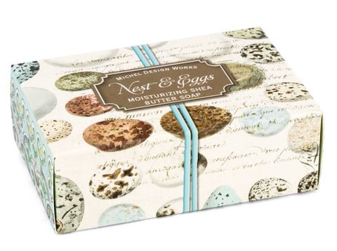 Designer nest and eggs large gift soap