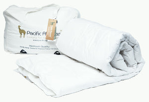 Pacific Alpacas Pure Alpaca All Seasons Duvet 150gsm + 350gsm