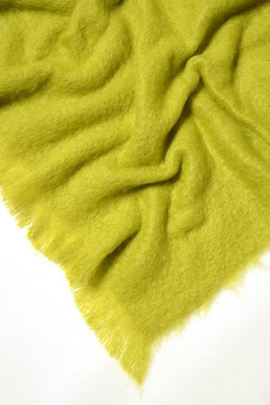 Pesto Green Mohair Throw Blanket