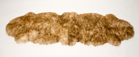 Image of Pet Sheepskin Rugs - TWO Large Natural Shape Beds 50x80cm