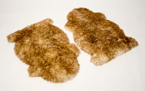 Pet Sheepskin Rugs - TWO Large Natural Shape Beds 50x80cm