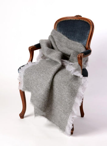 Mohair Throw Australia Windermere Pewter Grey