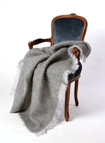 Mohair Throw USA Windermere Pewter Grey
