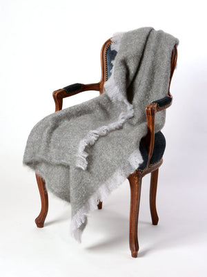 Mohair Throw NZ Windermere Pewter Grey