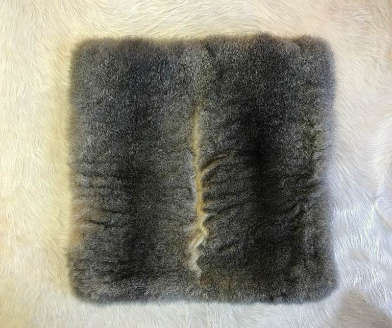 Warm grey possum fur cushions