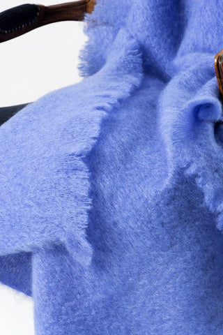 Windermere Provence Blue Mohair Throw Blanket