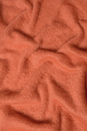 Pumpkin Orange Mohair Throw Blanket