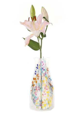 Image of Plastic Expandable Flower Vase - Foliage