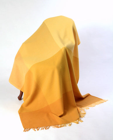 Image of Roxburgh Merino Wool Throw Blanket - Amber Yellow Gold