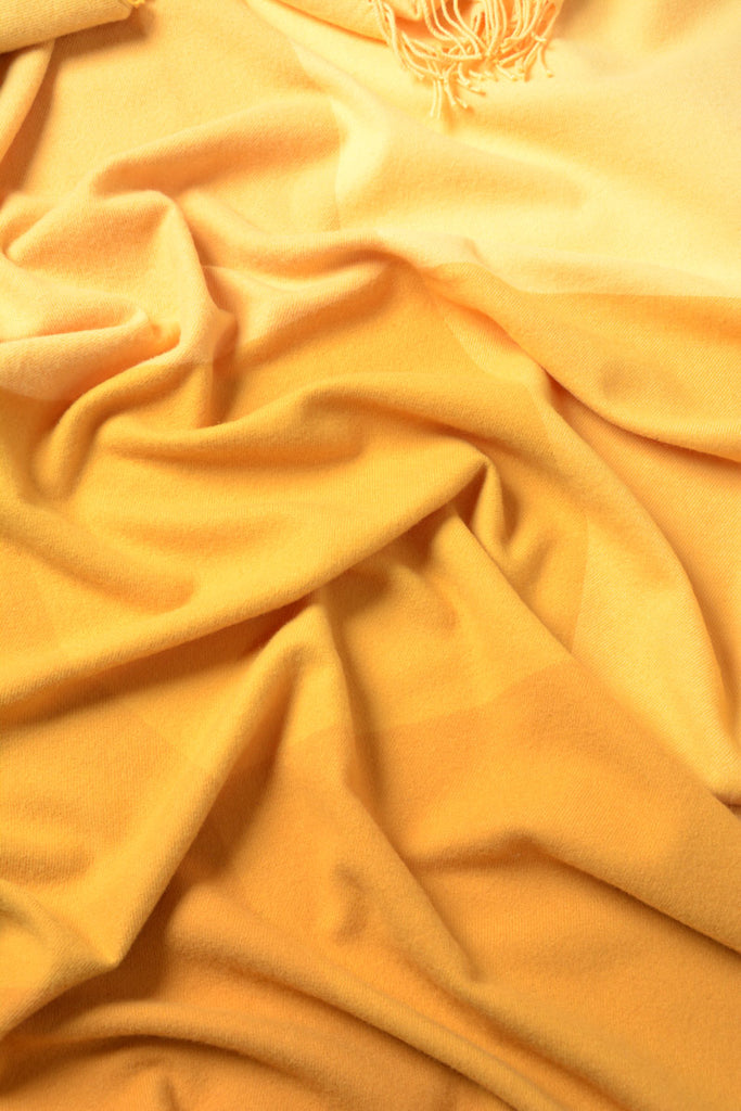 Roxburgh merino wool throw blanket amber yellow gold