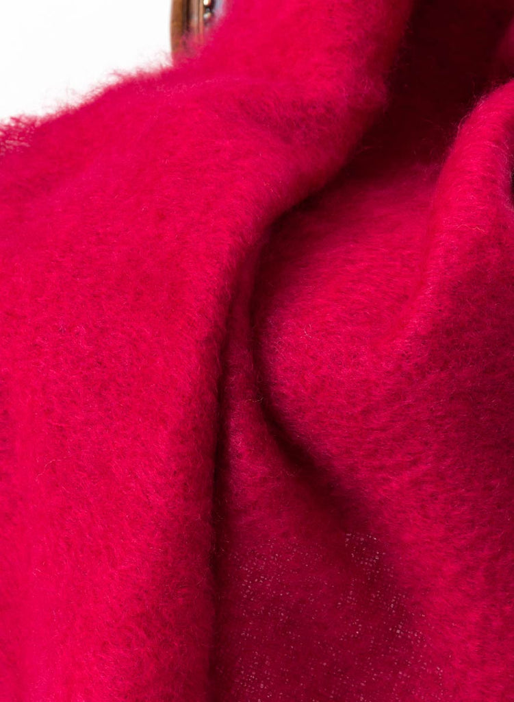 Ruby Red Mohair Chair Throw