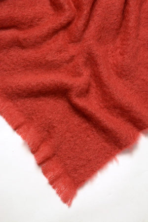 Russet Red Mohair Throw Blanket