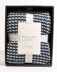 Sausalito Cotton Weave Throw - Pigment