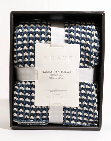 Warwick Sausalito Cotton Weave Throw - Pigment